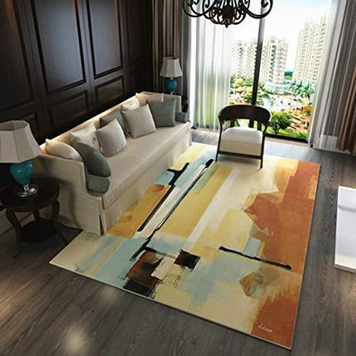 BYGenMai Tapis de Sol Motif géométrique Abstrait Morden Carpet Soft Rug,K,120x160CM