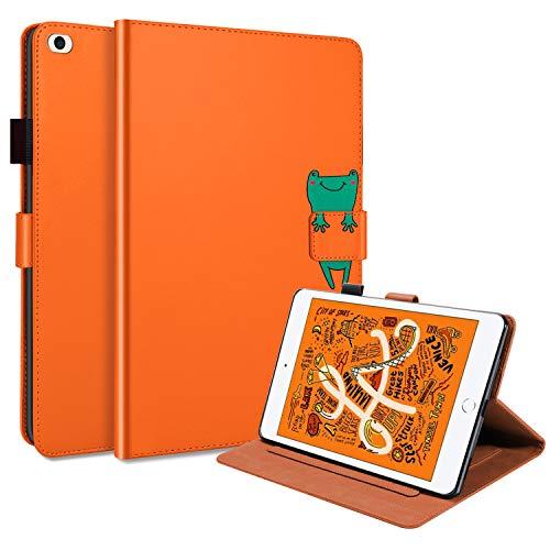 L&Btech iPad Mini 1/2 / 3/ 4 / 5 Case, iPad Mini 5th/4th generation 7.9'' Cover Slim Flip Wallet Stand Case with Auto Sleep/Wake Card Holder, Smart Cover for iPad Mini 5 4 3 2 1 Tablet - Orange