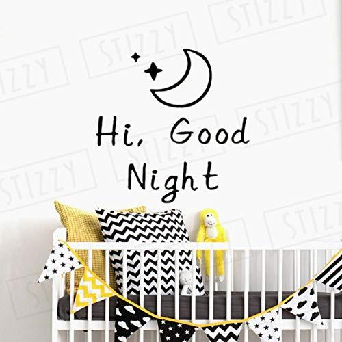 Wandaufkleber 57X57cm Mond Sterne Muster Zitat Cartoon Art Deco Bewegliche Wand Dekoration Büro Diy Pvc Schlafzimmer Familie Wasserdicht Selbstklebende Wohnzimmer Fenster