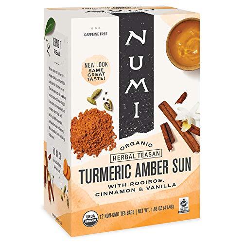 Numi Organic Tea Tumeric Amber Sun, 12 ct