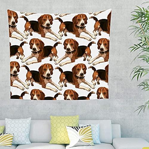 Tapiz indio para colgar en la pared, tapiz para colgar en la pared, tapiz para colgar en la pared, tapiz para dormitorio, sala de estar, toalla de playa, 150 x 130 cm, Bianco