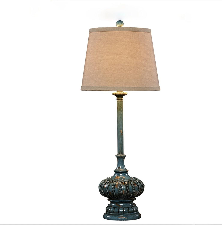 ZSFWY Europäische Tischlampe Tischlampe Tischlampe Schlafzimmer Wohnzimmer Lichter American Village Antike kreative Retro Nachttisch Lampen Warm Study Lamp B07H93RBW2     | Schön  3e9efd