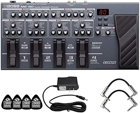Boss ME 80 Compact Powerful Guitar Multi effects Pedal or Floor Processor with Easy Analog Controls product image