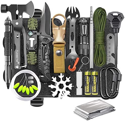 Gifts for Men Dad Husband Survival Gear and Equipment Kit 30 in 1 Cool Gadget Tactical First product image
