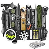 Gifts for Men Dad Husband, Survival Gear and Equipment Kit 30 in 1, Cool Gadget Tactical First Aid Supplies Tool Kit for Outdoor Emergency Camping Hiking Fishing Hunting