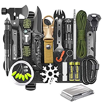 Gifts for Men Dad Husband Survival Gear and Equipment Kit 30 in 1 Cool Gadget Tactical First Aid Supplies Tool Kit for Outdoor Emergency Camping Hiking Fishing Hunting