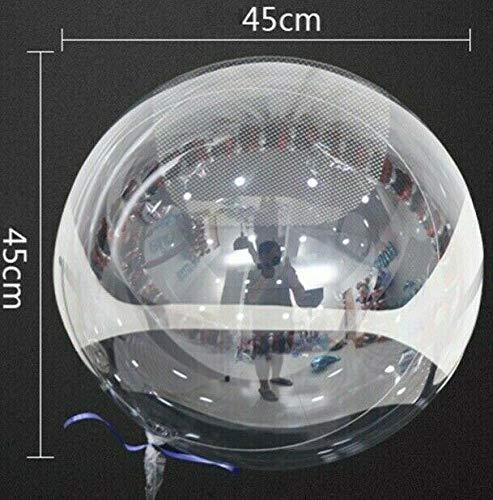 SauParty 3 Stück XL 45cm Helium Bubble Transparent Luftballons Klar Globus Rund Hochzeit