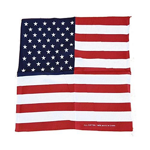 USA Flagge Bandana - Polyester / 57 x 57 Zentimeter / Sternenbanner / 4. Juli Amerikanische Andenken