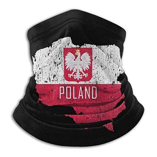 JKHHW Fleece Nackenwärmer Gamasche Polen Karte Polnische Flagge Weiche Mikrofaser Kopfbedeckung Gesicht Schal Maske Für Winter Kaltes Wetter &Warmhalten Für Herren Frauen