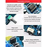 DRF Carte de préampli de Caisson de Basses 2.1 canaux Carte d'amplificateur de préamplificateur de Filtre Passe-Bas (Bleu)