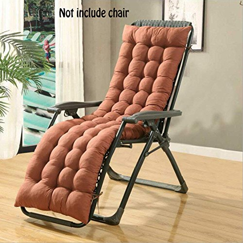 Auflage für Sonnenliege, Liegestuhl Stuhlkissen, dicker Bezug für den Außengebrauch(Nicht enthalten Stühle), coffee, 160*48*8CM