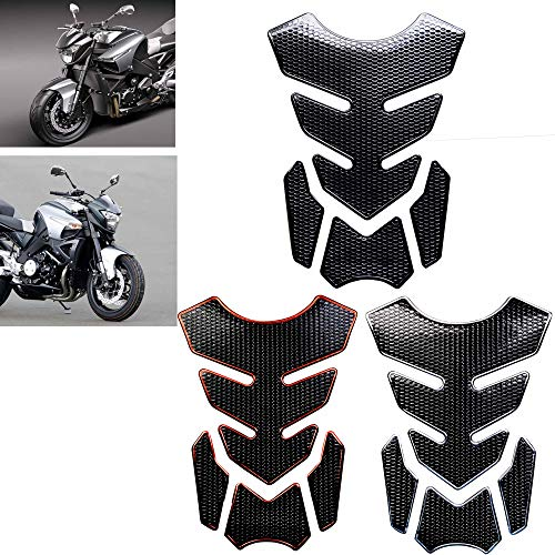 REVSOSTAR 3D Tank Pad, Gas Tank Protector, Motorcycle Tank Sticker Protector Decal Gas Oil Fuel Tank Pad Protector (6 Pcs per set, Multi-coloured, 2Pcs of Each Color)