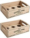 2 x Vintage General Store diseño soporte para huevos cajas