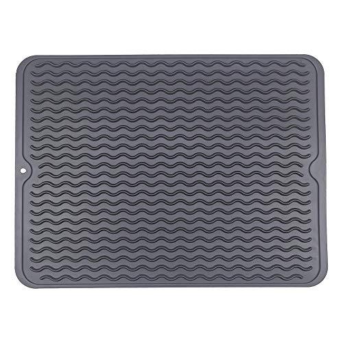 Siliconen Droogmat voor Keuken Aanrecht, Afdruipmat, Siliconen Droogmat, Antislip, Vaat Afwas Droogmat, Afwas Droogmat Siliconen Afdruipmat Dish Draining Mat Silicone, 40x30cm