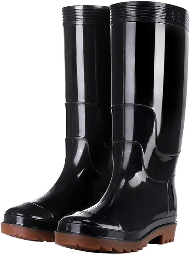 FENIKUSU Men's Waterproof Rain List price Boots Garden Kit Antiskid Mid-top Fashionable