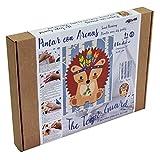 Arenart | Lámina Tridimensional de Mascota Hokee 30x38cm| para Pintar con Arenas de Colores | Manualidades para Niños | Dibujo Infantil | Pintar por números | +6 años