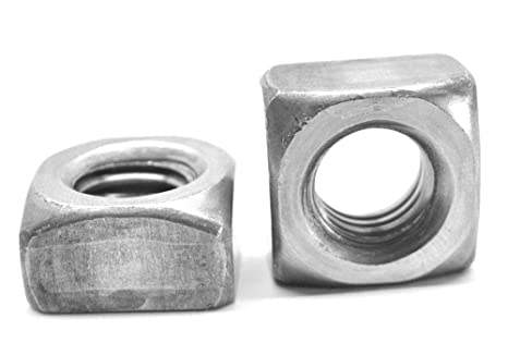 "1,000 1//4/""-20 Regular Square Nut Coarse Thread Unplated Plain Finish Steel"