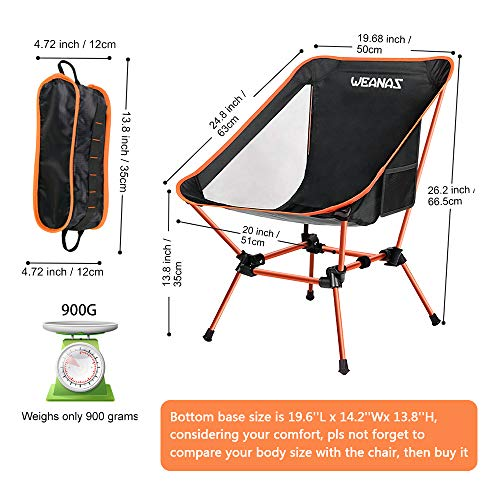 Weanas Portable Backpacking Camping Chair