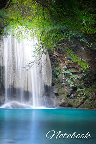 Notebook: Inspirational Blank Journal with Dot Gridded Pages - Blank Dot Grid Bullet Notebook & Diary for Writing & Notes - Erawan Cascade Waterfall ... Forest, National Park Kanchanaburi, Thailand