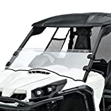 UTV Commander Half Front Windshield Compatible with Can Am Commander 800 1000 2011-2021 52.3' Scratch Resistant Windscreen with Clamp