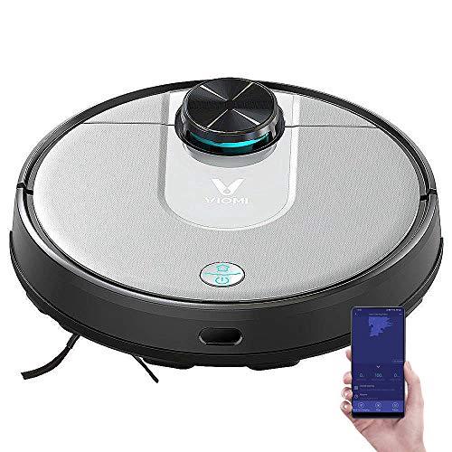 VIOMI V2 Pro, Robot aspiradora de Barrido con trapeador, navegación láser Wi-Fi, Trapeado de Barrido 2 en 1, succión Fuerte en Todo el Piso y Control de Aplicaciones 3200 mAh 2000 Pa