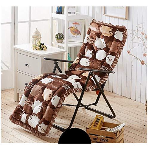 Belleashy Cojín suave para tumbona, cojín para tumbona, tumbona, colchón para jardín, exterior, interior, sofá, tatami, asiento de coche, banco para el hogar (color: 2, tamaño: 145 cm)