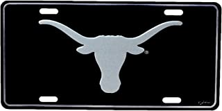 TG,LLC Texas Longhorns Elite Black Mirrored License Plate