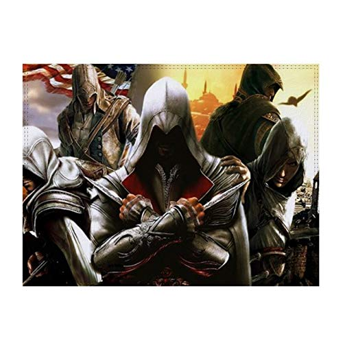 Placemat Assassin's Creed Home Hotel mesa mesa mesa mesa mesa mesa mesa mesa mesa placemate piel y pasteboard
