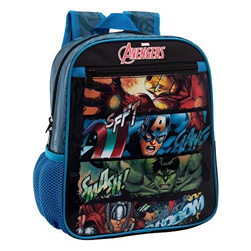Marvel 4412151 Avengers Zainetto per Bambini, Poliestere, Nero, 28 cm