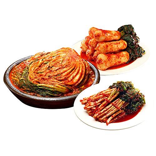 【三口一品mikuchi】お中元 白菜キムチ1kg/チョンガクキムチ415g/ねぎキムチ415g 人気NO.1 【冷蔵便発送】ギフト