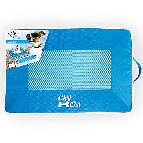 ALL FOR PAWS Chill Out Fresh Breeze Dog Mat, Medium, 5.096 kg, blue