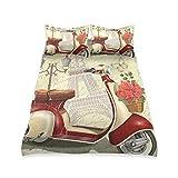 UMIRIKO Juego de ropa de cama para niños con diseño de la Torre Eiffel de París, estilo vintage, juego de cama suave con 2 fundas de almohada para niños y niñas 66 x 90 pulgadas 2020202