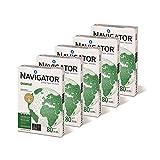 Caja de 5 Paquetes 2500 Folios NAVIGATOR Universal 5 x Paquete 500 Hojas A4 80 g Multifunción