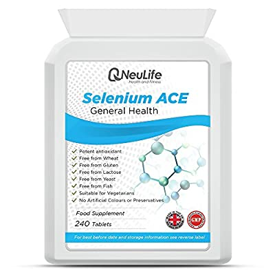 Selenium 200mcg and Vitamins A,C,E - 240 Tablets - by Neulife Health and Fitness from Neulife Health and Fitness