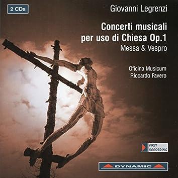 Legrenzi: Concerti musical per uso di chiesa, Op. 1
