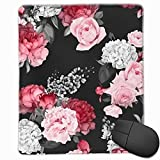 Alfombrilla de ratón Patrón Floral Transparente con Rosas Ratones Alfombrilla de ratón para Jugadores de PC y Mac
