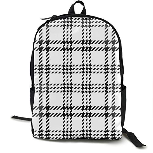 Osmykqe Motif à Carreaux Seamless Vector Noir Blanc léger Business Workpack Daypack