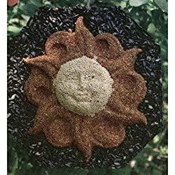 A picture of a sun shaped bird seed feeder.