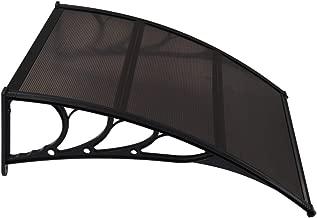 Tidyard T/ürvordach Haust/ürdach Haust/ür /Überdachung Pultvordach 150 x 90 cm,Haust/ürvordach Pultbogenvordach UV-best/ändig und witterungsbest/ändig,PET-Platten+Stahlklammern+Aluminiumstreifen