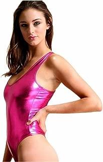 Iffee Women's Shiny Metallic Sleeveless Leotard Bodysuit Dance Top Dancewear