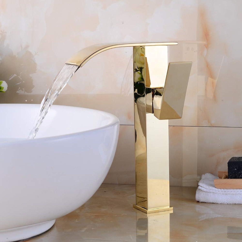 Bathroom Sink Tap golden Finish Bathroom Basin Faucet Single Handle Bathroom Sink Mixer Faucet Crane Tap Antique Brass Hot Cold Water Deck
