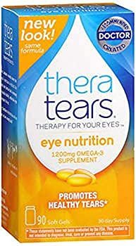 TheraTears Nutrition Dry-Eye Relief Capsules [Omega-3 Supplement] 90 ea  Pack of 7