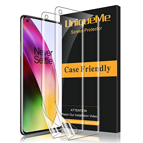 UniqueMe [2 Stück] schutzfolie für Oneplus 8 Folie, Oneplus 8 [Flexible Folie] Soft HD TPU Klar Displayschutz Displayschutzfolie