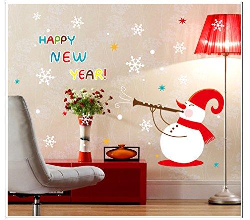 Kfnire Xmas Wall Sticker Fensterbild Fenstersticker Fensterdeko Wanddeko Weihnachten Advent Sticker (C)