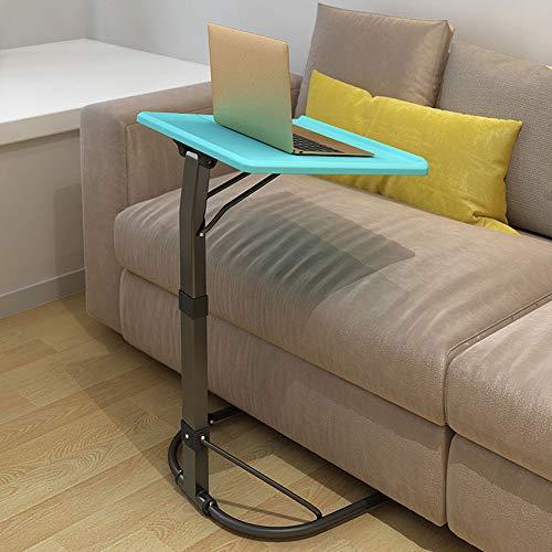 Multifunctionele Computer Desk, in hoogte verstelbare bijzettafel, 3-Files Til Verstelbare en Desktop draaibare 90 °, voor het Bureau van het Huis,Blue
