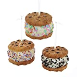 Kurt Adler Set of 3 3' Realistic Looking Foam Cookie Ice Cream Sandwich Christmas Ornament D3497