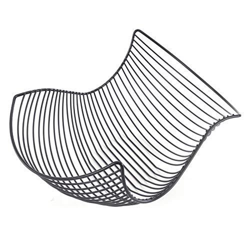 Designer OBSTKORB Salomon | 37x27cm (LxB), schwarz matt, Metall | Obstschale, Brotkorb, Brötchenkorb