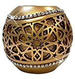 Modefa Islamic Turkish Home Table Decor Gift Selcuk Geometric Star Pattern Tealight Candle Holder Gold