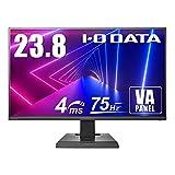 I-O DATA ゲーミングモニター 23.8型 75Hz 4ms VAパネル フレームレス PS4 HDMI×2 DP×1 EX-LDF241SVB