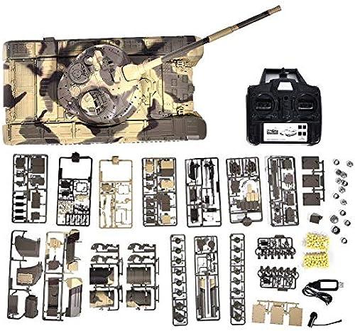 Dilwe 2,4 GHz RC Panzer Spielzeug, 1 16 T-90 Kampfpanzer Schwere Fernbedienung Battle Walker Panzer Modell Spielzeug für Kinder